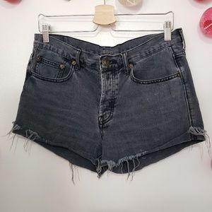 BDG Tomgirl Mid-rise jean cutoff shorts 28